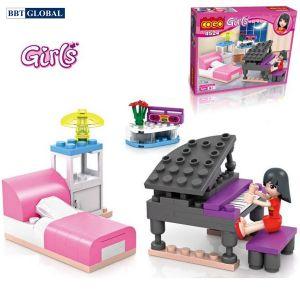 Bộ đồ chơi xếp hình cao cấp đàn piano cho bé CGBX4524