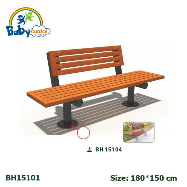 Ghế công viên sân vườn nhập khẩu BH15104