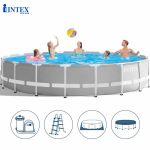 Bể bơi khung kim loại tròn 6m10 cao 1m32 INTEX 26756