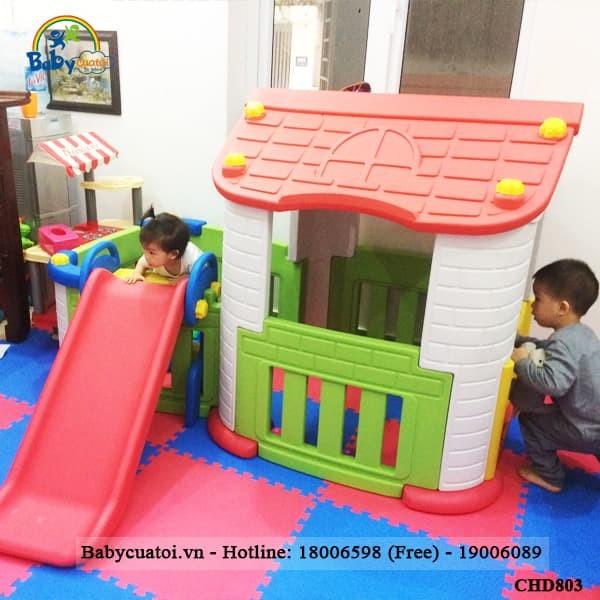 Nhà chơi cầu trượt Hàn Quốc CHD803