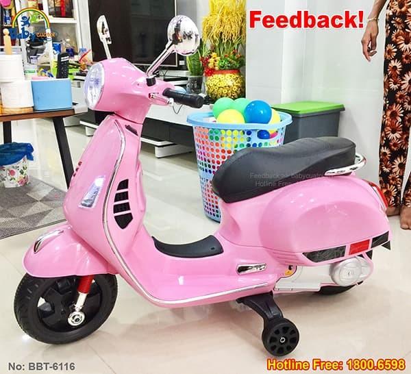 Xe máy điện trẻ em Vespa BBT-6116