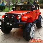 Ô tô điện trẻ em địa hình 4 động cơ siêu HOT màu đỏ BBT-1666D