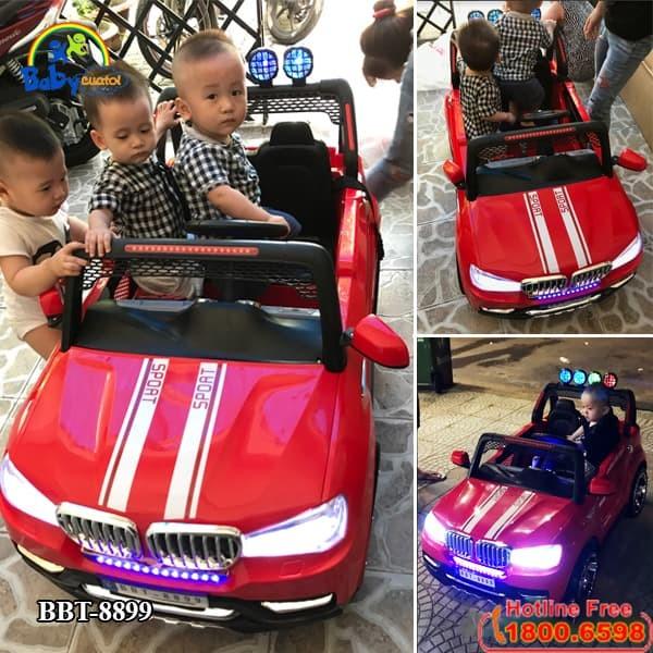 Xe ô tô điện trẻ em 2 chỗ ngồi Hummer màu đỏ