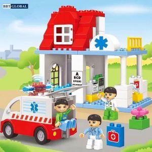 Đồ chơi xếp hình bệnh viện và xe cấp cứu 5173