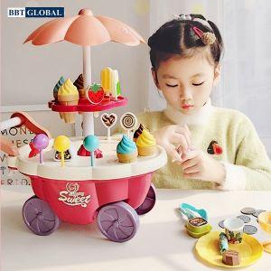 Đồ chơi xe đẩy bán kem cỡ lớn có đèn và nhạc 668-88