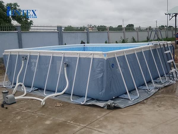 Bể bơi di động lắp ghép khung kim loại