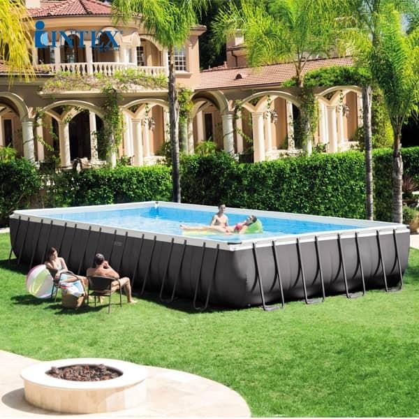 Bể bơi khung kim loại chịu lực 9m75 có máy lọc INTEX 26372