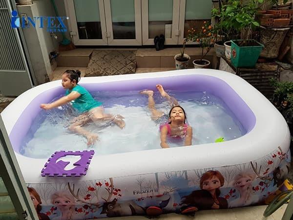 Bể bơi phao cho bé 2m62 nữ hoàng băng giá Frozen INTEX 58469