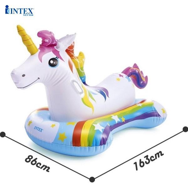 Phao bơi ngựa thần sắc màu cho bé INTEX 57552