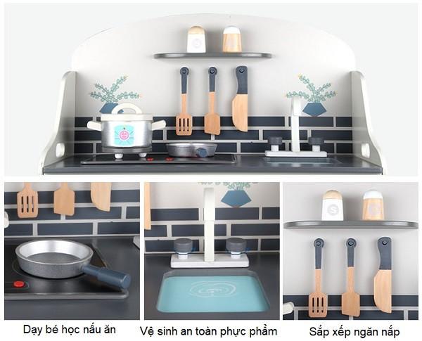Đồ chơi nấu ăn BBT Global gỗ cao cấp đa tính năng MSN18028