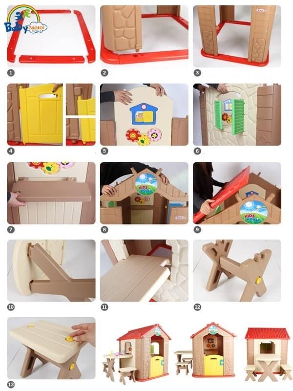 Nhà chơi cho bé Hàn Quốc HN705 | Cách lắp ráp