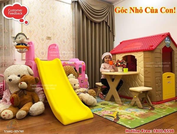 Nhà chơi cho bé Hàn Quốc kèm bàn ghế HN705