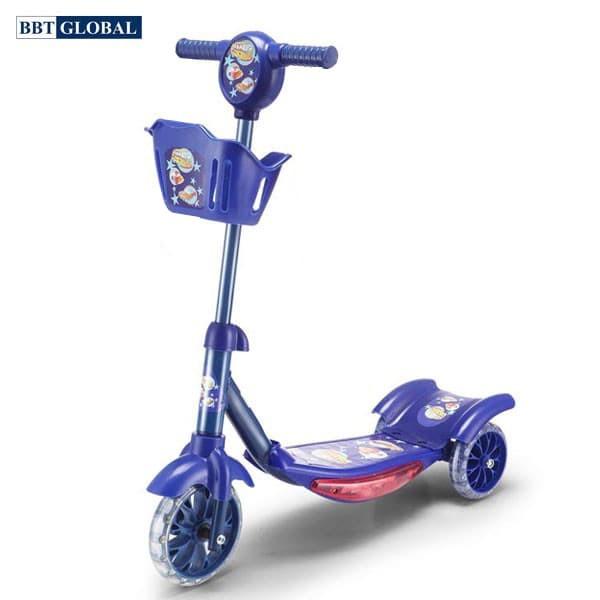 Xe trượt scooter 3 bánh có giỏ đựng đồ BBT Global KM066