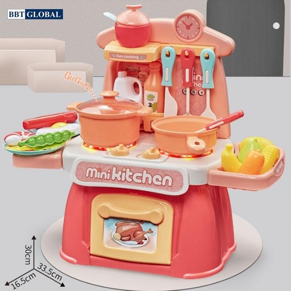 Đồ chơi bếp nấu ăn cho bé 26 chi tiết hồng 889-174