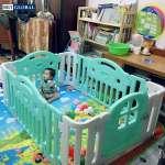Quây cũi BBT Global cho bé kiểu dáng Hàn Quốc BBT Global BR9509 màu xanh