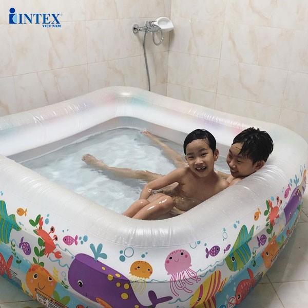 Bể bơi phao đại dương 1m59 hình vuông INTEX 57471
