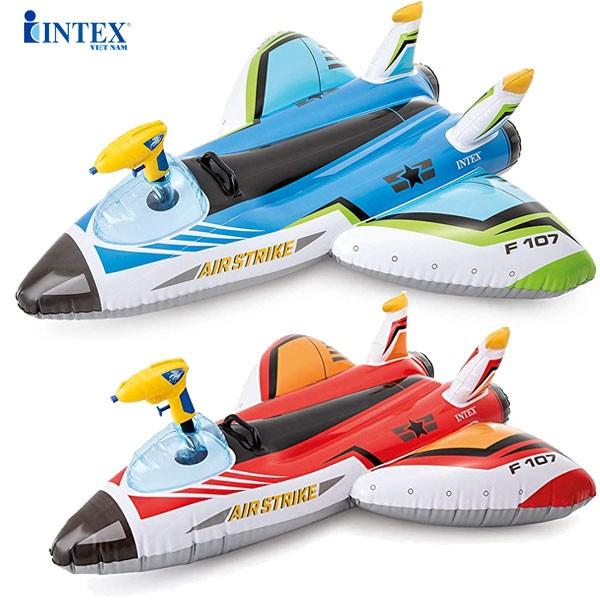 Phao bơi máy bay có súng phun nước INTEX 57536
