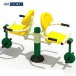 Thiết bị thể dục ngoài trời ghế tập chân 2 chỗ ngồi BBT Global KXJS-056