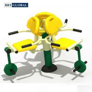 Thiết bị thể dục ngoài trời ghế tập chân 3 chỗ ngồi BBT Global KXJS-059