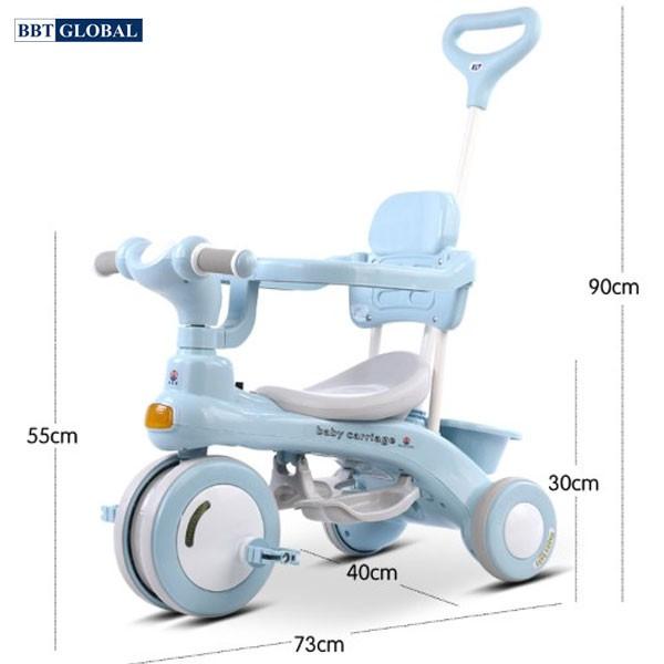 Xe đạp 3 bánh có tay đẩy đa năng cho bé Q10