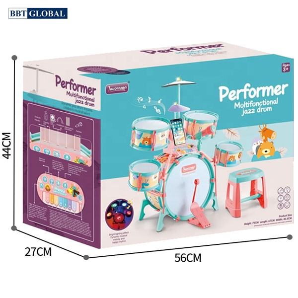 Bộ trống đồ chơi kèm đàn cho bé cỡ lớn nhiều chức năng Q532A