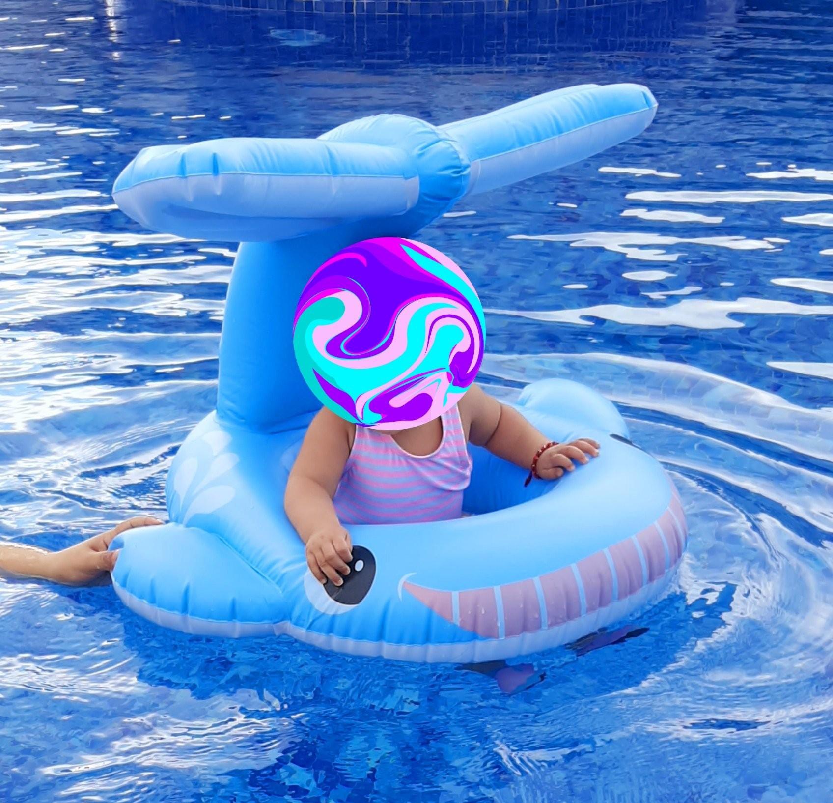 Phao bơi xỏ chân cá voi xanh INTEX 56591