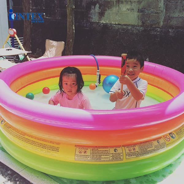 Bể bơi phao cầu vồng 4 tầng 1m68 INTEX 56441