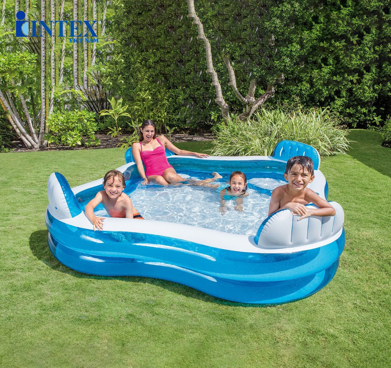 Bể bơi phao Salon hình vuông 2m29 INTEX 56475