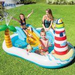 Bể bơi phao cầu trượt có cần câu cá intex 57162