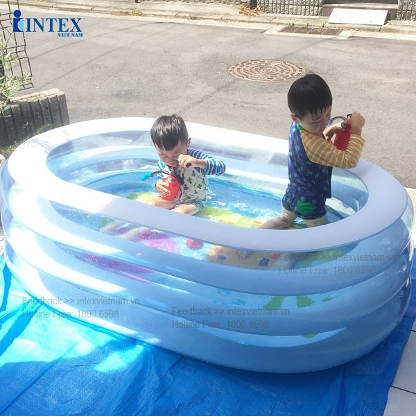 Bể bơi phao 3 tầng INTEX hình Oval 57482 (163*107cm)