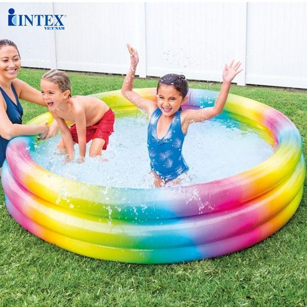 Hồ bơi phao hình tròn 3 tầng cho 1m68 bé INTEX - 58449
