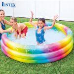Hồ bơi phao sắc màu 3 tầng cho bé 1m68 INTEX 58449