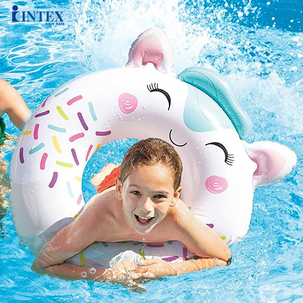 Phao bơi tròn hình thú đáng yêu cho bé INTEX 59266