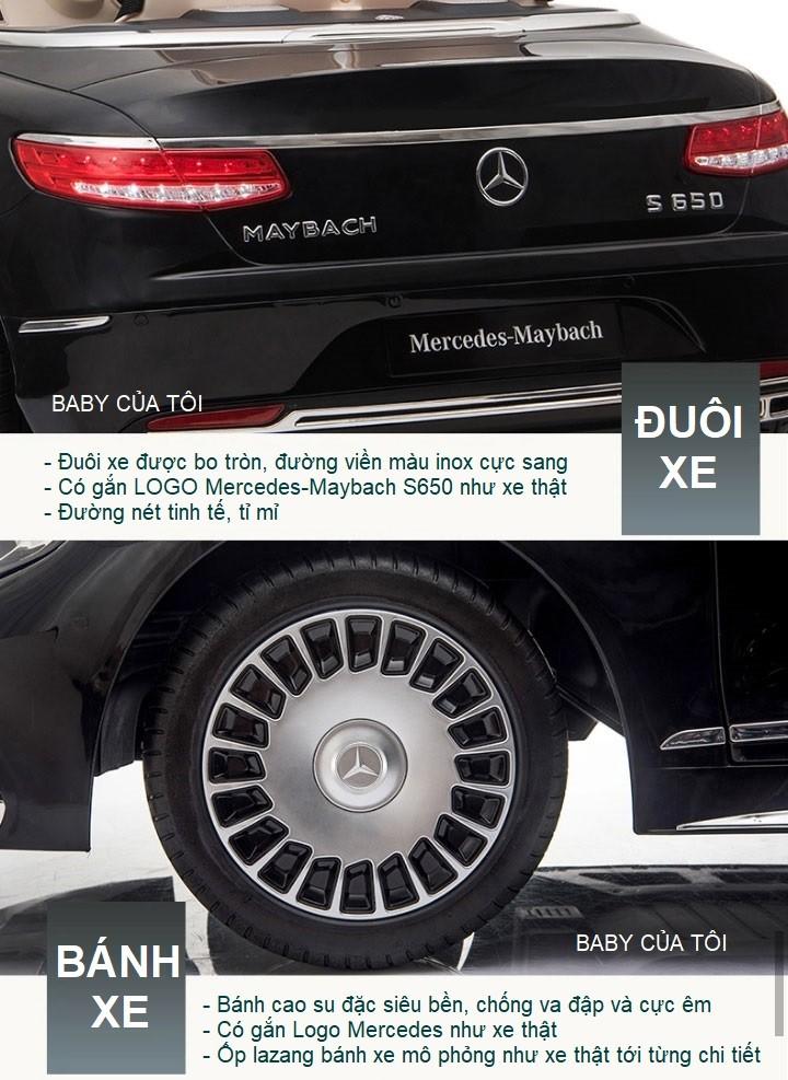 Xe ô tô điện trẻ em Mercedes Maybach S650