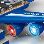 Đồ chơi mô hình máy bay cảnh sát có đèn và nhạc 660-A242