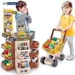 Đồ chơi quầy siêu thị kèm xe đẩy cho bé 668-77