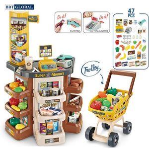 Đồ chơi quầy siêu thị có xe đẩy cho bé 668-78