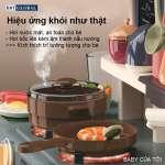 Đồ chơi nấu ăn 63cm 42 chi tiết xanh có khói 889-187