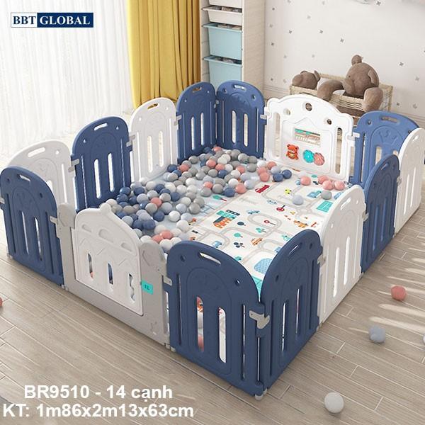 Quây cũi vương miện cho bé BBT Global BR9510 màu xanh