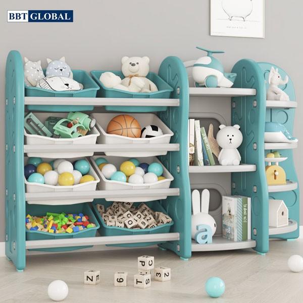 Giá kệ để đồ chơi và đồ dùng cho bé BBT Global xanh lá SH9603