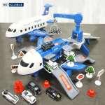 Mô hình máy bay cảnh sát có đèn và nhạc cỡ lớn SJ670C