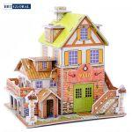 Xếp mô hình 3D ngôi nhà biệt thự cho bé 3D-29