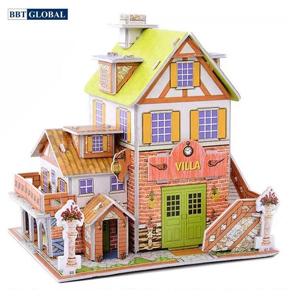 Mô hình 3D ngôi nhà biệt thự cho bé 3D-29