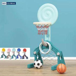 Cột ném bóng rổ kèm ném vòng và khung thành bóng đá BBR01