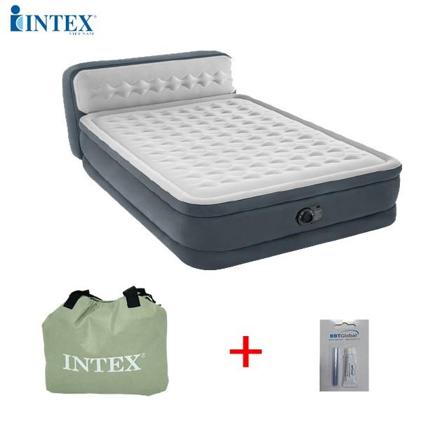 Giường hơi tự phồng công nghệ mới có đầu giường INTEX 64448