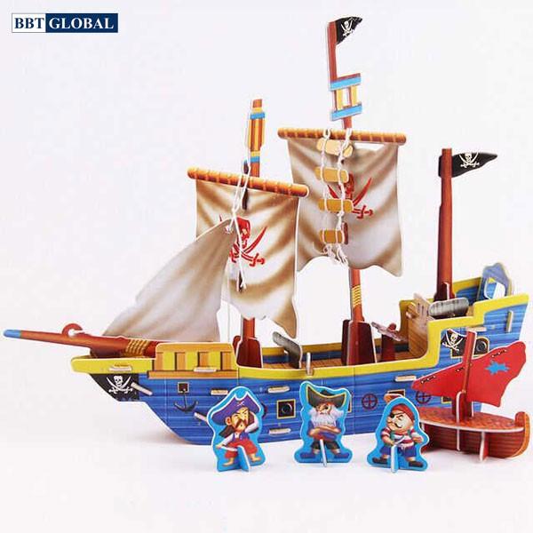Đồ chơi xếp hình 3D cho bé hình tàu thủy LX-207