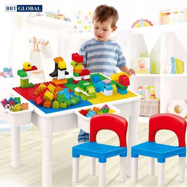 Bộ bàn chơi LEGO đa năng 2 ghế kèm 60 chi tiết xếp hình cỡ lớn 188T-4