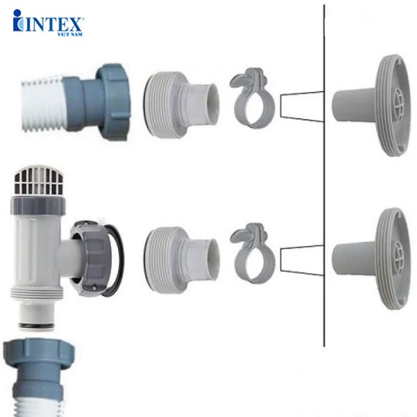 1 chiếc cút nối từ ống máy lọc nước cát sang bể có lỗ nhỏ INTEX 29061