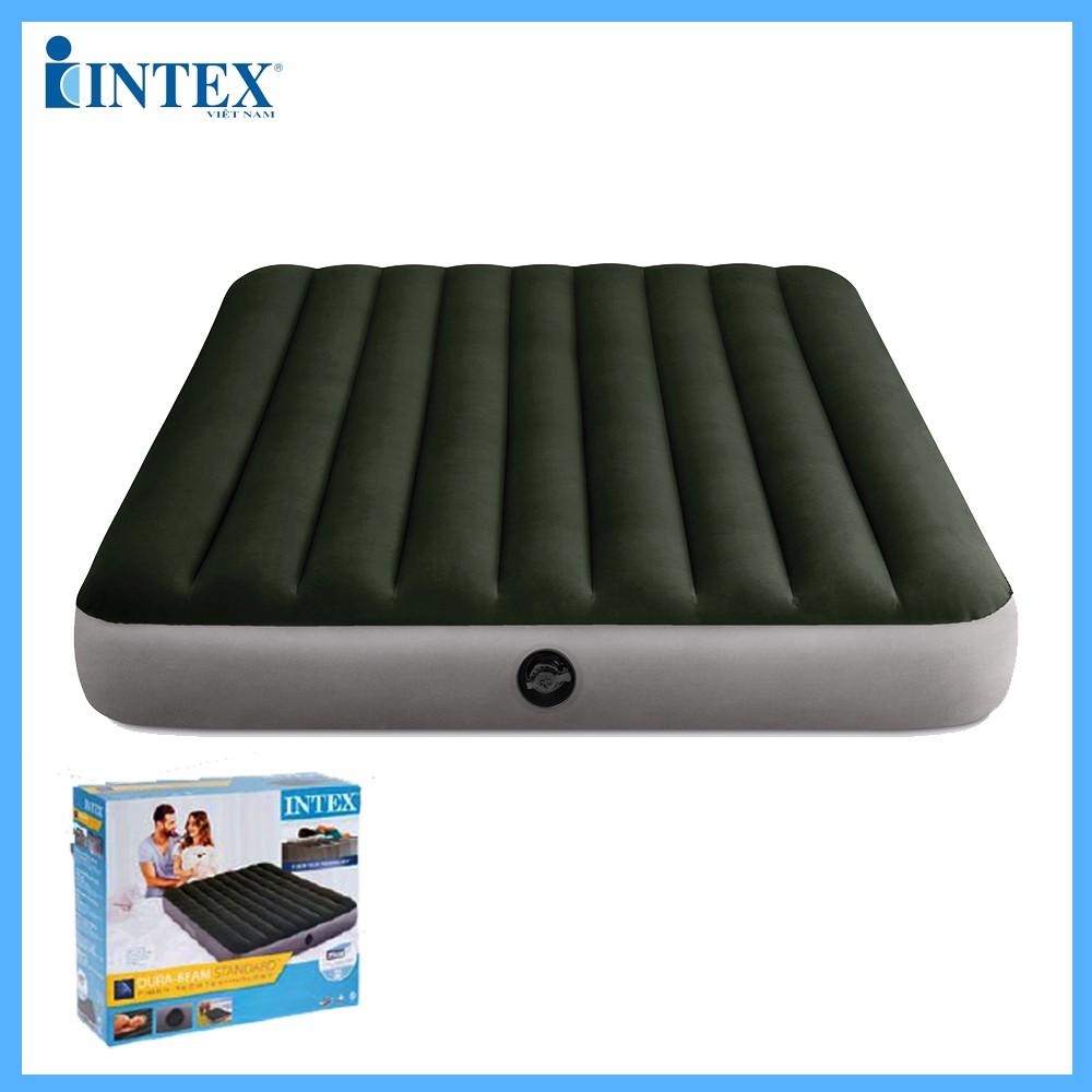 Đệm hơi đôi 1m52 công nghệ mới màu xanh rêu INTEX 64109