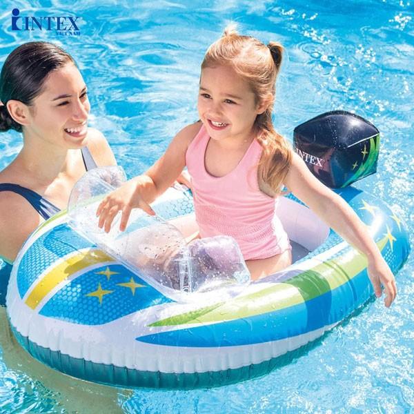 Phao bơi phi thuyền, cá và ô tô INTEX 59380